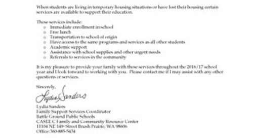 Homeless Student Support Resources