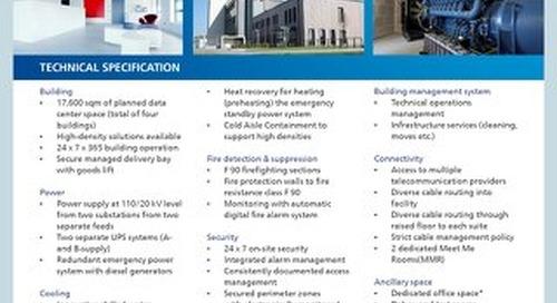 Germany Frankfurt 3 Data Center Tech Spec