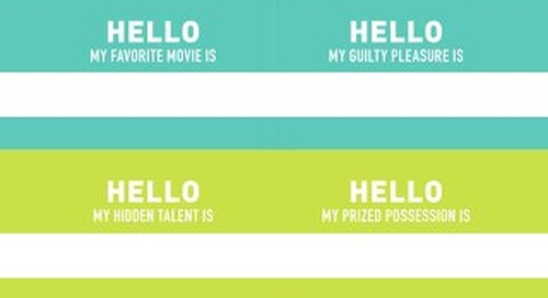 Conversation Starter Name Tags