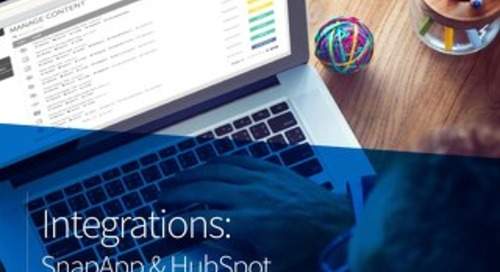 Integrations: SnapApp & HubSpot