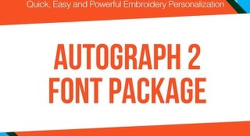 Autograph 2 Standard Fonts