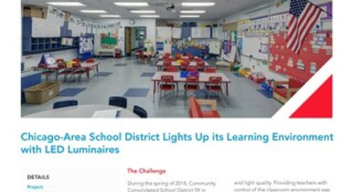 Chicago School District 59 Lights Up its Learning Environment with LED Luminaires