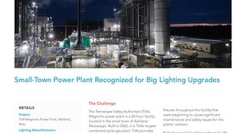 Small-Town Power Plant Recognized for Big Lighting Upgrades