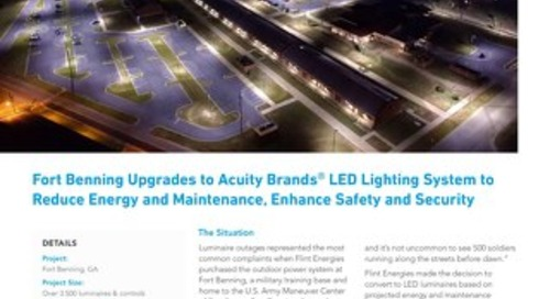 Fort Benning Saves Energy With LED Lighting & Controls Solution