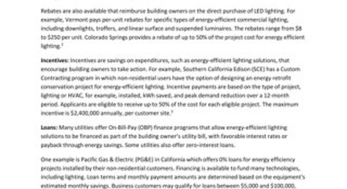 Financial Incentives Make LED Lighting an Easier Choice for Building Owners