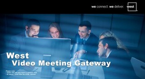 West Video Meeting Gateway - UK