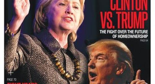 October 2016: Clinton vs. Trump