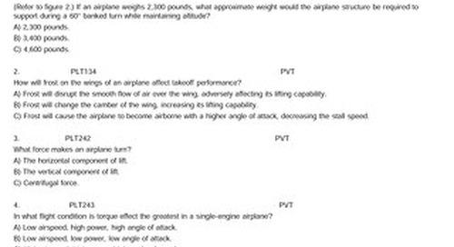 Private Pilot Written Test Questions 2011 Bank