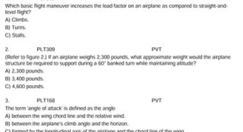 Private  Pilot Written Test Questions 2008 Bank
