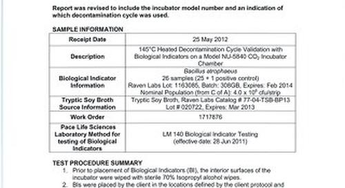 [Report] CO2 Incubator Decontamination Validation Report