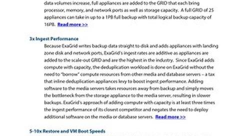 ExaGrid-Advantages