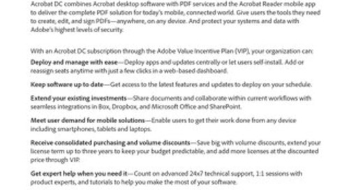 Adobe Acrobat DC for Business