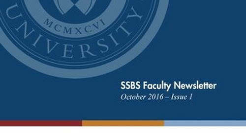 SSBS Quarterly Newsletter 2016