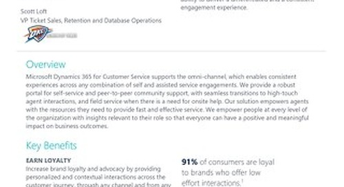 Your Quickstart Guide to Dynamics 365 for Customer Service