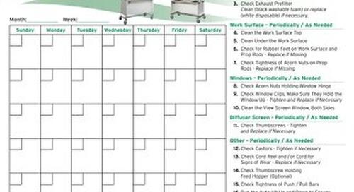 [Infographic] Animal Transfer Station Preventative Maintenance Calendar