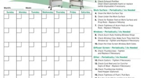 [Infographic] Animal Transfer Station Preventative Maintenance Calendar