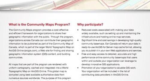 Community Map of Canada Program