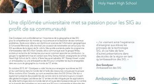 Profil d'une ambassadrice des SIG : Zoe Goodyear