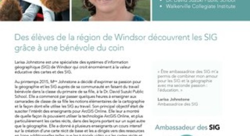 Profil d'une ambassadrice des SIG : Larisa Johnstone