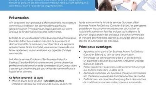 Forfait de services Quickstart - Esri Business Analyst for Desktop (Canadian Edition)