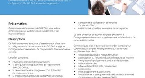 Trousse de lancement de SIG web - ArcGIS Online
