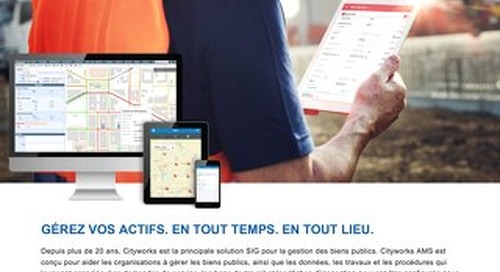 Cityworks Server AMS - Solution de gestion des actifs