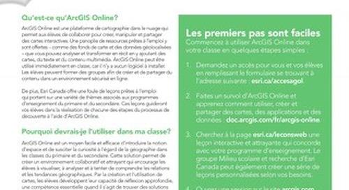 ArcGIS Online pour les classes du primaire et du secondaire