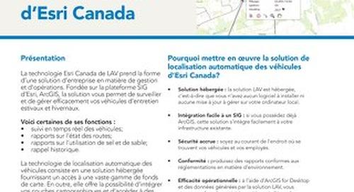Localisation automatique des véhicules (LAV) d'Esri Canada