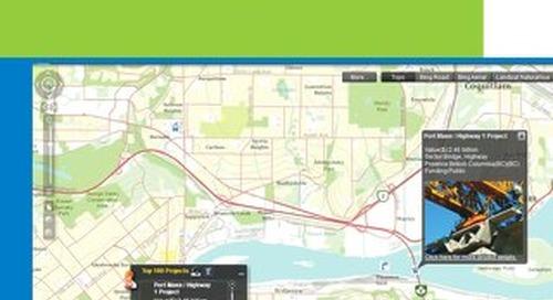 Les 100 projets d'infrastructures les plus en vue au Canada, mis en valeur par la cartographie web