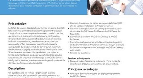 Forfait de services Quickstart - ArcGIS for Server