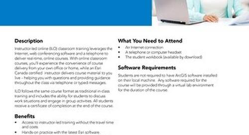 Instructor-led Online Classroom Training