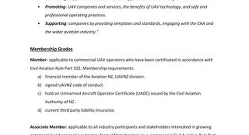 UAVNZ Membership Policy v2.3