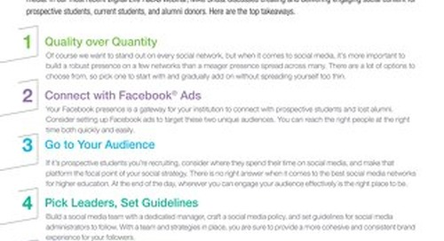 Tip Sheet: Savvy Social Media
