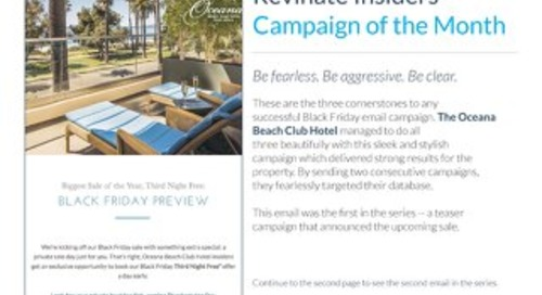 Insiders Campaign of the Month: Oceana Beach Club Hotel