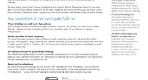 Splunk Add-on for Investigate.