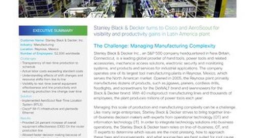 Cisco - Stanley Case Study