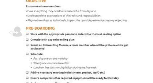 First 90 Days Onboarding Checklist