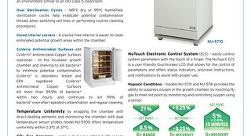 [Flyer] In-VitroCell NU-5700 Series CO2 Incubator
