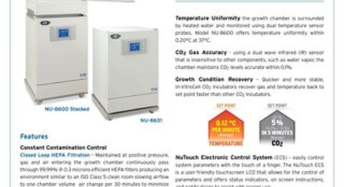 [Flyer] In-VitroCell NU-8600 CO2 Incubator Product Flyer