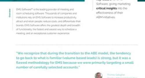Engagio Case Study: EMS