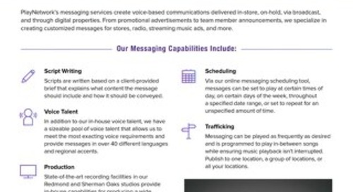 PlayNetwork Messaging Overview