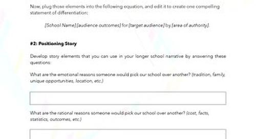 Story Shape-up Worksheet