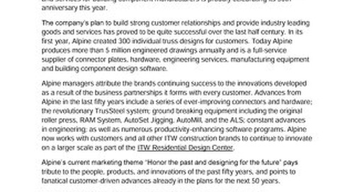 50 Years of Building Success Press Release 121416