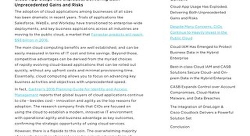 Intelligent Cloud Cybersecurity with IDaaS & CASB