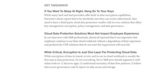 FREE Forrester Market Overview on Cloud Data Protection
