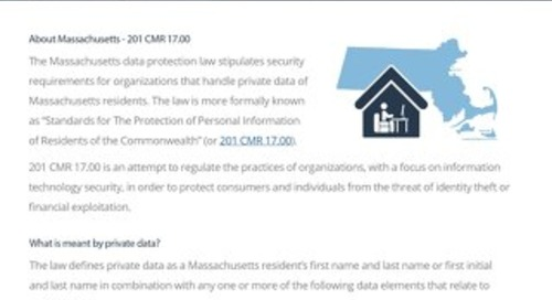 Mass. 201 CMR 17.00 Compliance Guide