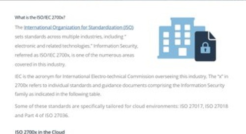 ISO/IEC 2700X Family Compliance Guide