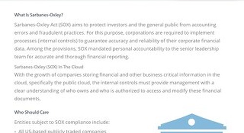 Sarbanes-Oxley Compliance Guide