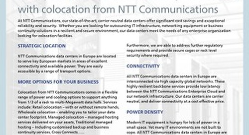 NTT Colocation Services Data Sheet
