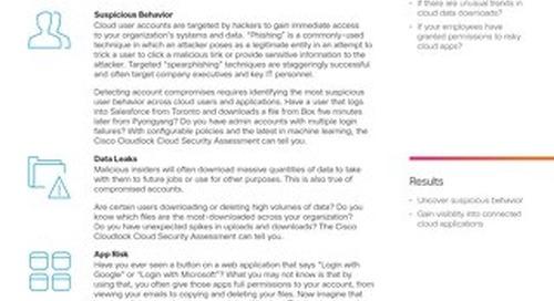 Cisco Cloudlock Cloud Security Assessment